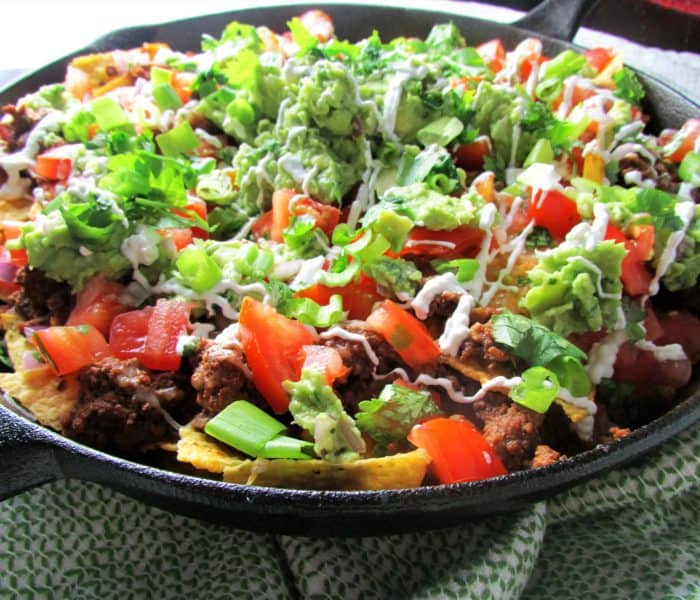 Loaded Skillet Nachos