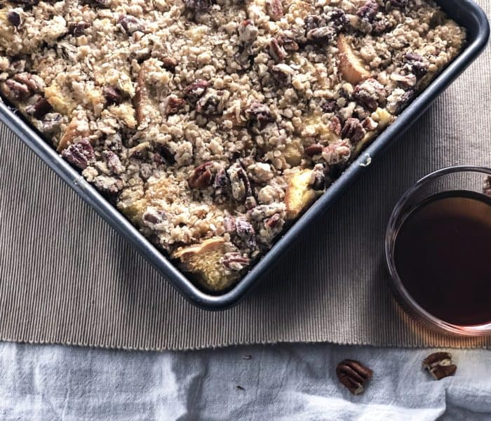 Banana Pecan French Toast Casserole