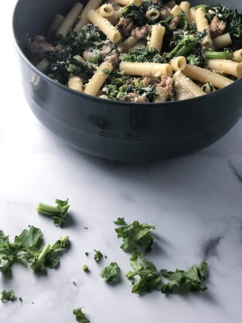 Ziti with Sausage & Broccoli Rabe
