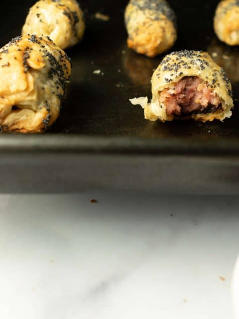 Puff Pastry Sausages in Blanket