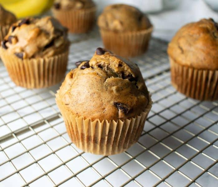 Banana Choco Nut Muffins