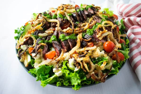 Colorful salad on a white background