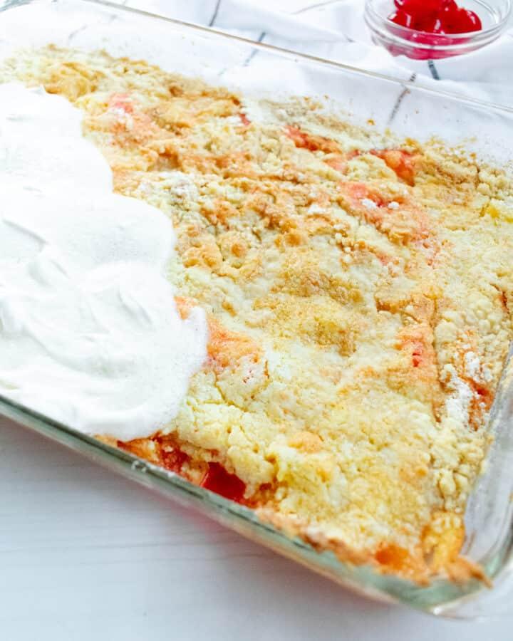 cake in a baking dish
