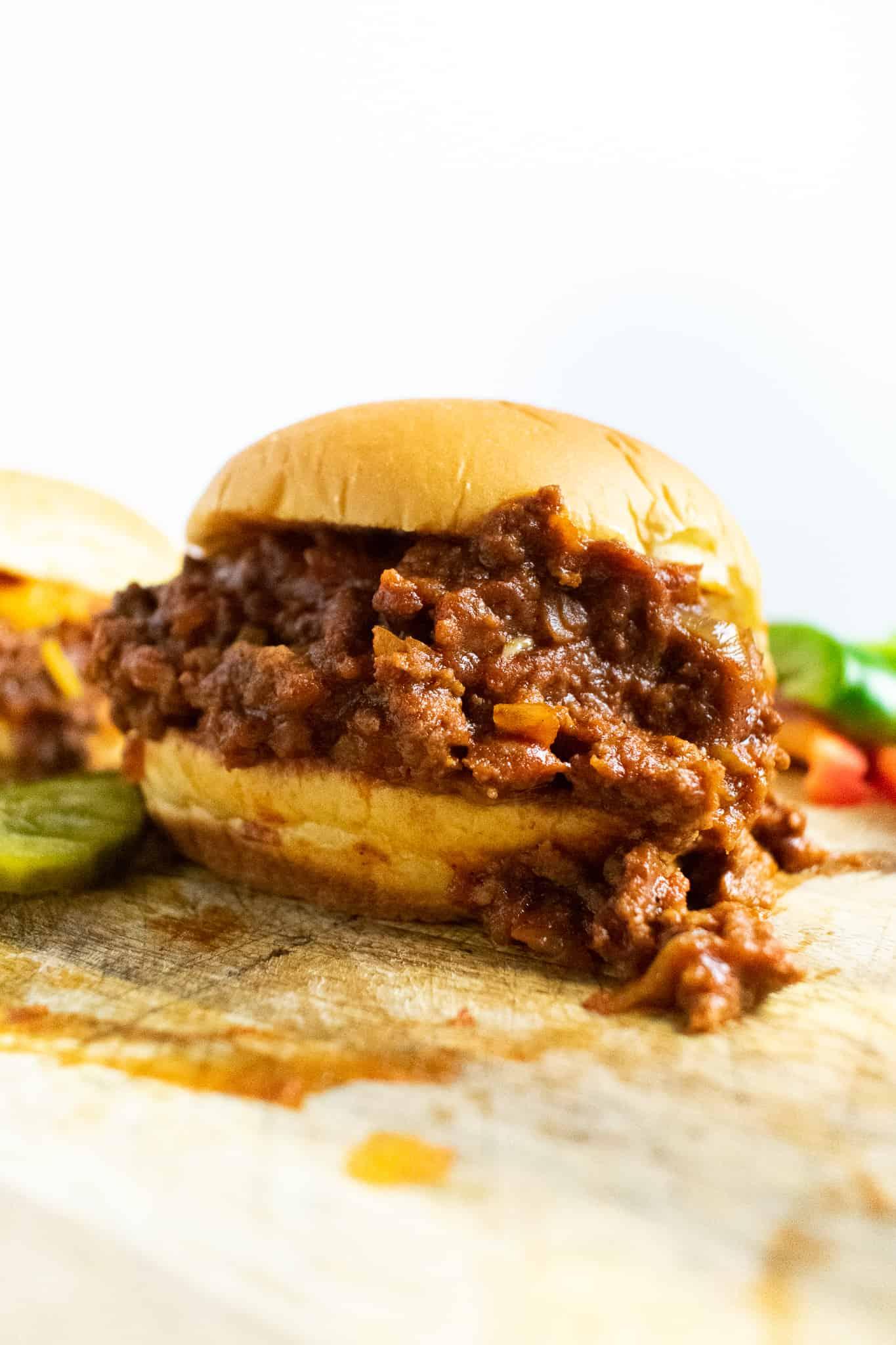 photo of a beef sandwich
